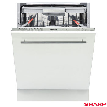 Sharp QW-GD54R443X, 15 Place Settings Dishwasher A+++ Rating with Silver Control Panel
