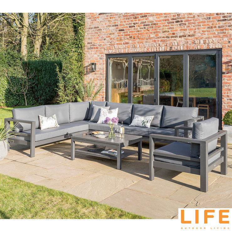 LIFE Outdoor Living Lava 6 Piece Corner Seating Set ... on Outdoor Living Life id=20617