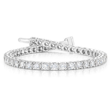 7.00ctw Round Brilliant Cut Diamond Bracelet, 18ct White Gold