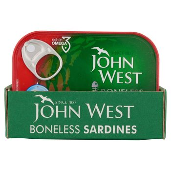 John West Boneless Sardines in Tomato Sauce, 12 x 95g