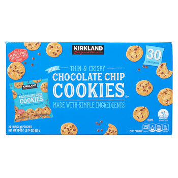 Kirkland Signature Mini Chocolate Chip Cookies, 30 x 28g