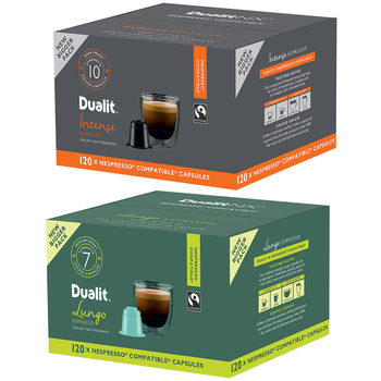 Dualit Nespresso Compatible Coffee Capsules, 120 Servings