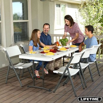 Lifetime 6ft Adjustable Height Commercial Table - 4 pack