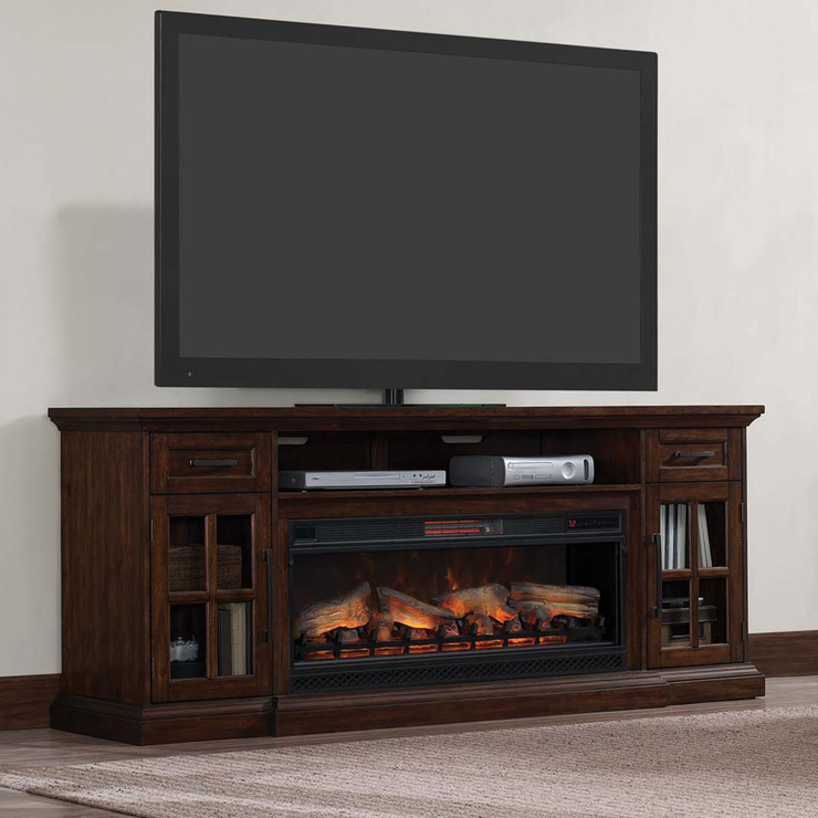 Media Mantel With 42 Electric Fireplace For Tvs Up To 80 Costco Uk