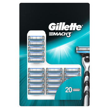 Gillette Mach3 Manual Razor Blades, 20 Pack