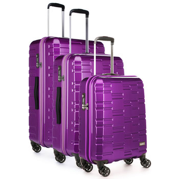 Antler Prism 3 Piece Hardside Suitcase Set, Purple