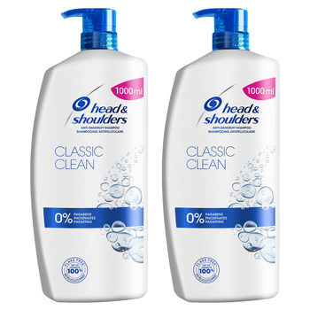 Front on shot of x1 bottles Head and Shoulders 2 in 1 Shampoo and Conditioner