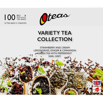 Oteas Variety Tea Selection Pack, 100 Teabags
