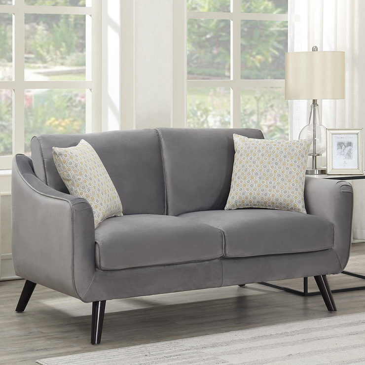 Outstanding Bainbridge Grey Velvet 2 Seater Sofa Costco Uk Theyellowbook Wood Chair Design Ideas Theyellowbookinfo