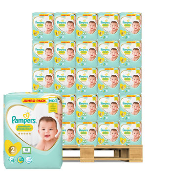 Pampers Premium Protection Nappies Size 2, 140 x 68 Jumbo Packs