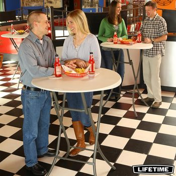 "Lifetime 33"" (3ft) Round Bistro Commercial Table"