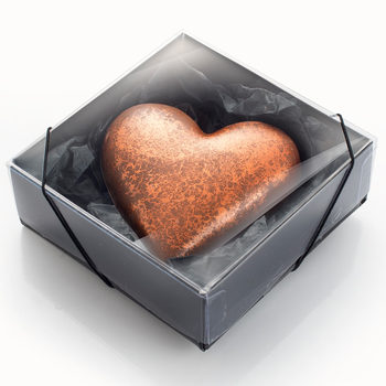 The Gourmet Chocolate Pizza Company - Large Chocolate Hearts, Rose Gold Copper