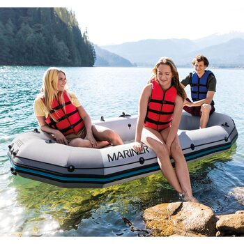 Intex Mariner 3 Person Boat with Paddles, Pump and Carry Bag