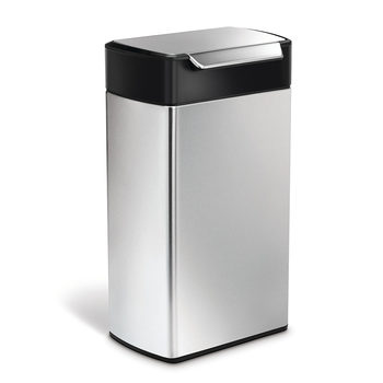 simplehuman 40 Litre Stainless Steel Touch-Bar Bin