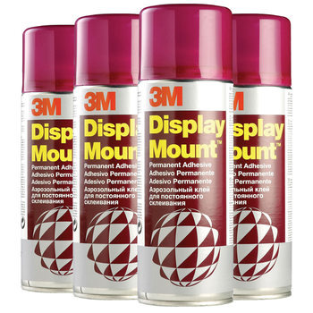 3M 400ml DisplayMount Adhesive Instant Hold Spray Can (CFC-Free) - Pack of 4