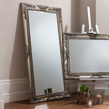 Gallery Hampshire Silver Leaner Mirror, 170 x 84 cm