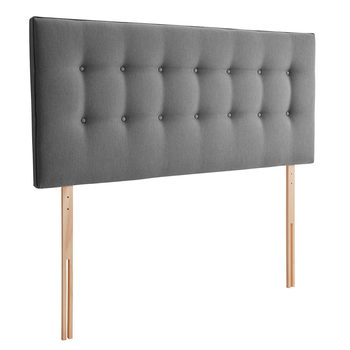 Silentnight Goya Grey Fabric Headboard in 4 Sizes