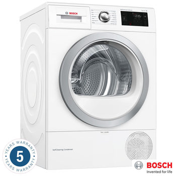 Bosch WTWH7660GB, 9kg, SelfCleaning Condenser Dryer A++ Rating in White
