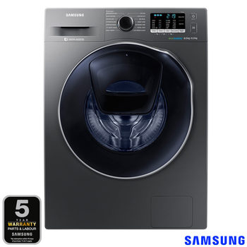 Samsung WD80K5B10OX/EU 8kg/6kg, 1400rpm Add Wash™ ecobubble™ Washer Dryer B Rating in Inox