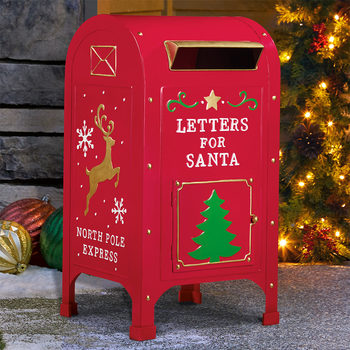 23 Inch (60cm) Letters For Santa North Pole Express Metal Mailbox