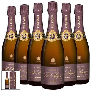 Pol Roger Brut Rosé Champagne 2009, 6 x 75cl with Gift Boxes