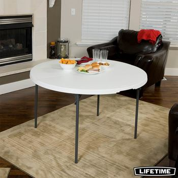 "Lifetime 48"" (4ft) Round Fold in Half Commercial Table"