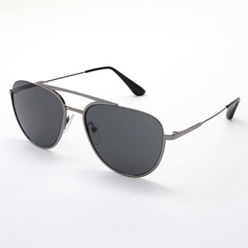 601b978405310 Prada Shiny Gunmetal Sunglasses with Grey Lenses