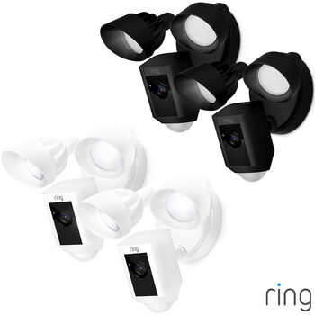 Ring Hardwired Floodlight Cam 2 pack in 2 Colours