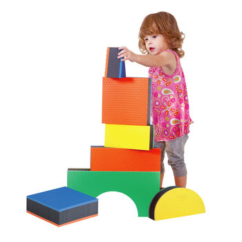 Edushape Jumbo Textured Blocks Set - 32 Pieces (1+ Years)