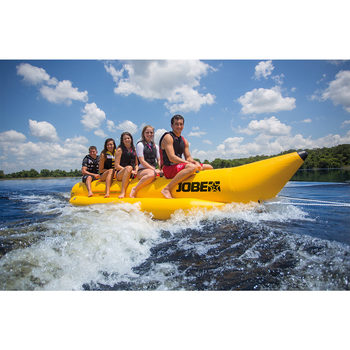 Jobe 8 Person Banana Watersled with 8 Certified 50N Buoyancy Vests