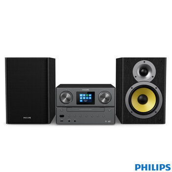 Philips Micro 100W Hi-Fi System with Internet/FM/DAB+ Radio, Bluetooth, Spotify Connect and CD Player, TAM8905