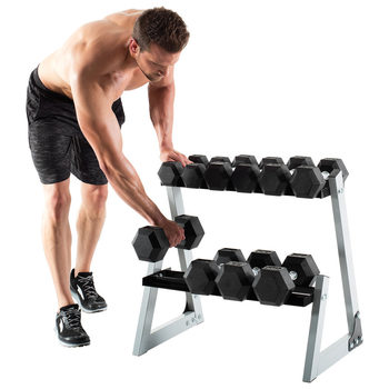 Weider Dumbbell Rack and Dumbbells - 10lbs to 30lbs in Increments of 5