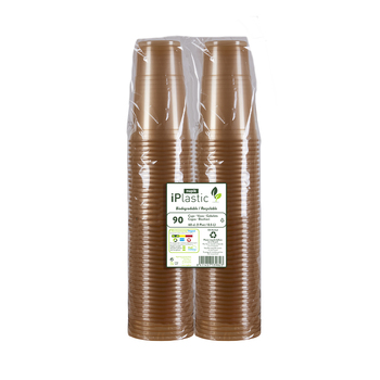 Nupik iPlastic Biodegradable and Recyclable Pint Tumblers, Pack of 90