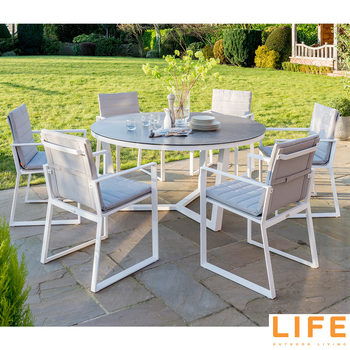 LIFE Outdoor Living Primavera 7 Piece Round Dining Set