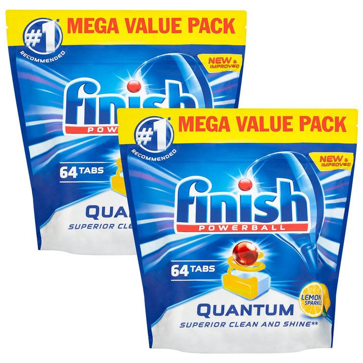 ef0906c32e59 Finish Powerball Quantum Max Lemon Dishwasher Tabs, 2 x 64 Pack ...