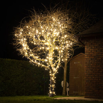 "Lights4You Outdoor 20m (65ft 7"") 120 LED Warm White String Lights"