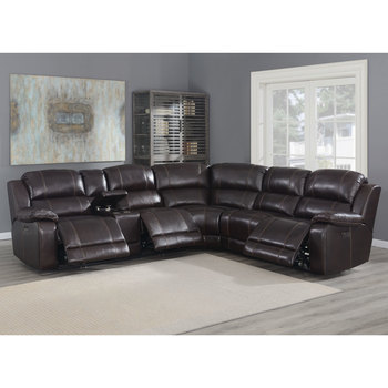 Pulaski Dunhill Leather Power Reclining Sectional Sofa