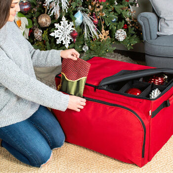 Christmas Ornament Storage Bag With 4 Trays