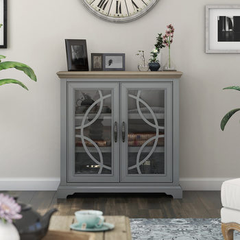 Tresanti Caterina Two Tone Blue Accent Console
