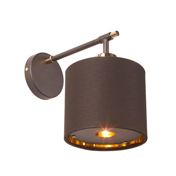 Elstead Balance 1Light Wall Light in Brown with Polished Brasss Accents