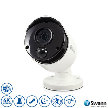 Swann 4K Ultra HD Thermal Sensing Bullet IP Security Camera, SWNHD-887MSB