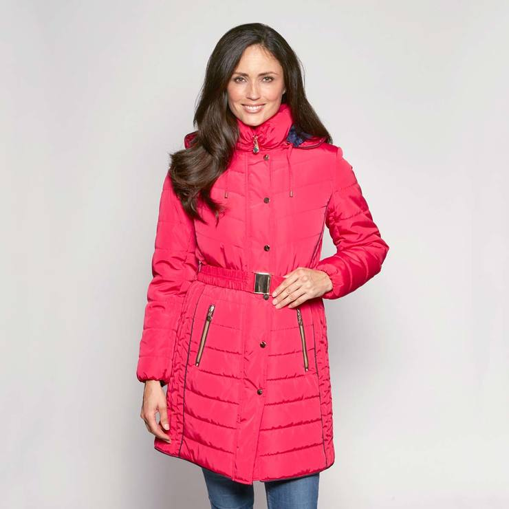 e85cac21da828 David Barry Women s Belted and Hooded Quilted Coat in 7 sizes and 7 Colours