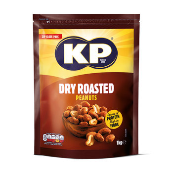 Pack of KP Dry Roasted Peanuts in zip close pack