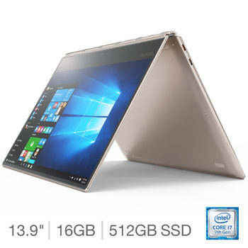 Lenovo Yoga 910, Intel Core i7, 16GB RAM, 512GB Solid State Drive, 13 inch Convertible Notebook