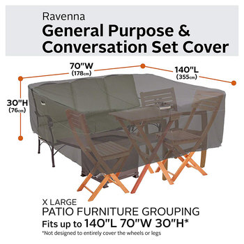 Classic Accessories Ravenna Extra Large General Purpose Patio Furniture Set Cover