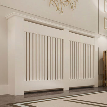 Empire Radiator Cabinet with Vertical Slats (145 x 90 x 20cm)