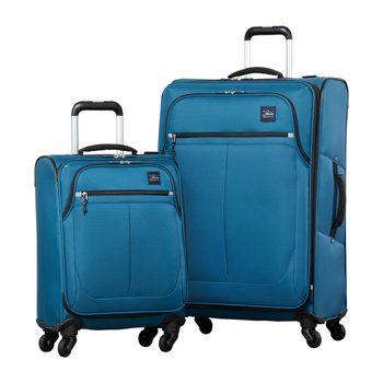 Ricardo Olympic 2 Piece Softside Suitcase Set, Blue