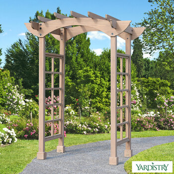 "Yardistry 7ft 6"" (2.29m) Backyard Cedar Arbour"