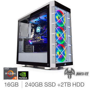 AWD-IT Ranger 9, AMD Ryzen 9, 16GB RAM, 240GB SSD  + 2TB HDD, NVIDIA RTX 2070 Super, Gaming Desktop PC