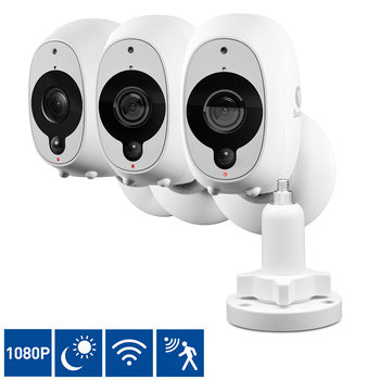 Swann 3 Pack Full HD Wireless Security Camera with True Detect & 1 Outdoor Mount